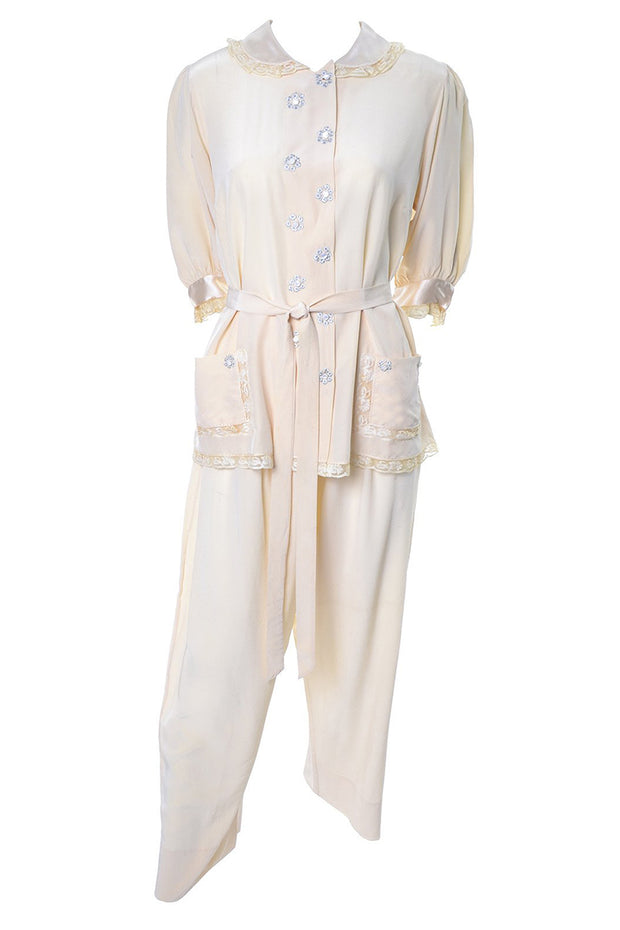 Vintage silk pajamas Saks Fifth Avenue Soie