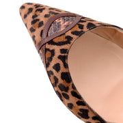 Manolo Blahnik D'Orsay Heels in Animal Print Suede Shoes