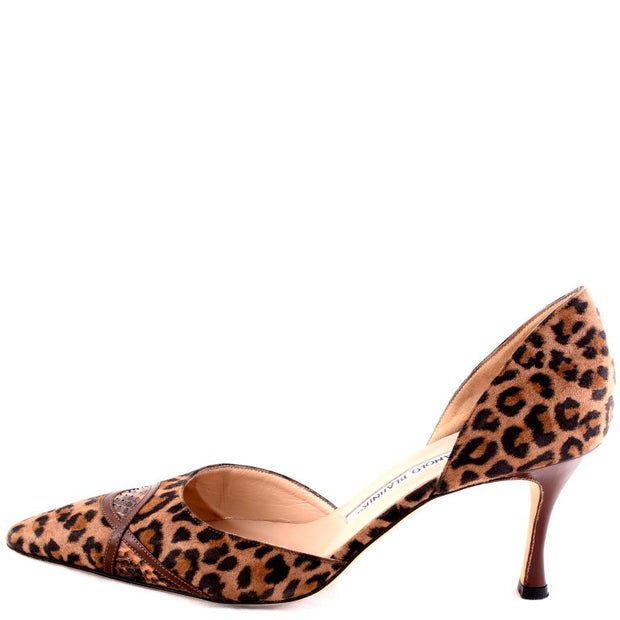 Pony Fur Pumps by Manolo Blahnik