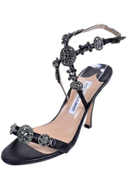 Manolo Blahnik Heeled Sandals with Crystal Embellishments