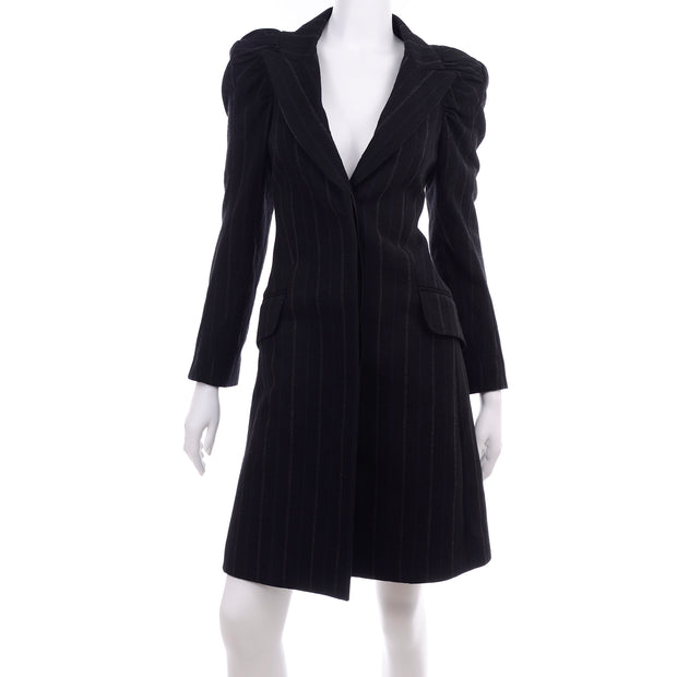 2010 Marc Jacobs for Louis Vuitton Runway Pinstripe Coat