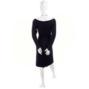 Black Long Sleeve vintage cocktail dress from 1960's