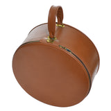 Vintage Mark Cross Leather Round Luggage Suitcase Bag - Dressing Vintage