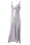 Mary Green luxury sleepwear vintage gray silk nightgown