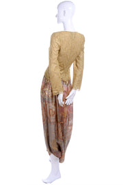 Vintage Mary McFadden Couture Gold Harem Pants & Top