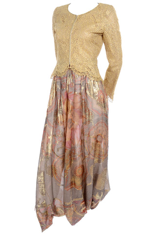 Pre-Fall 2009 Oscar de la Renta Skirt Brown & Cream Wool Mohair Alpaca Tweed