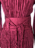 Fortuny style pleated vintage Mary McFadden couture silk dress