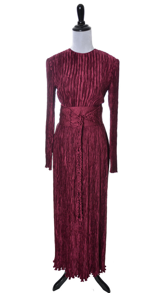 vintage Mary McFadden Couture pleated silk dress Bergdorf Goodman