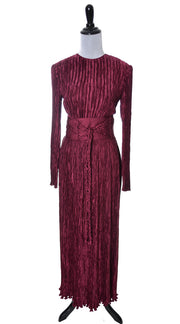 Mary McFadden Couture Fortuny style pleated silk 3 piece evening dress - Dressing Vintage