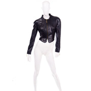 Michael Hoban North Beach Leather Vintage Black Jacket 1980s