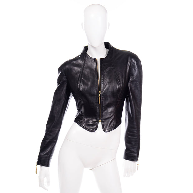 80s Michael Hoban North Beach Leather Vintage Black Jacket