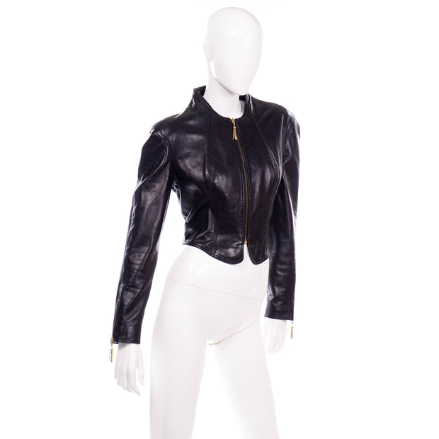 1980s Michael Hoban North Beach Leather Vintage Black Jacket