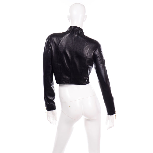 Michael Hoban North Beach Leather Vintage Black Jacket 80s