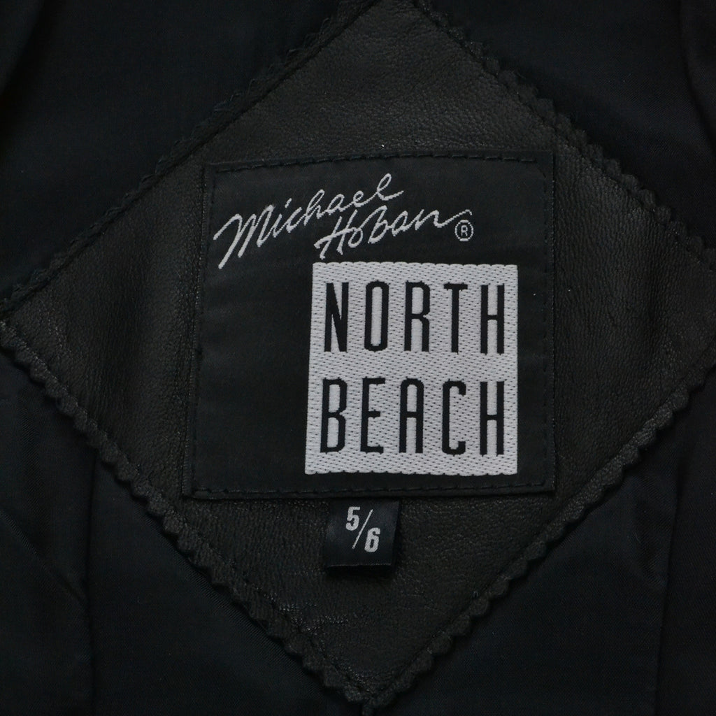 Michael Hoban North Beach Vintage Leather Jacket Striped