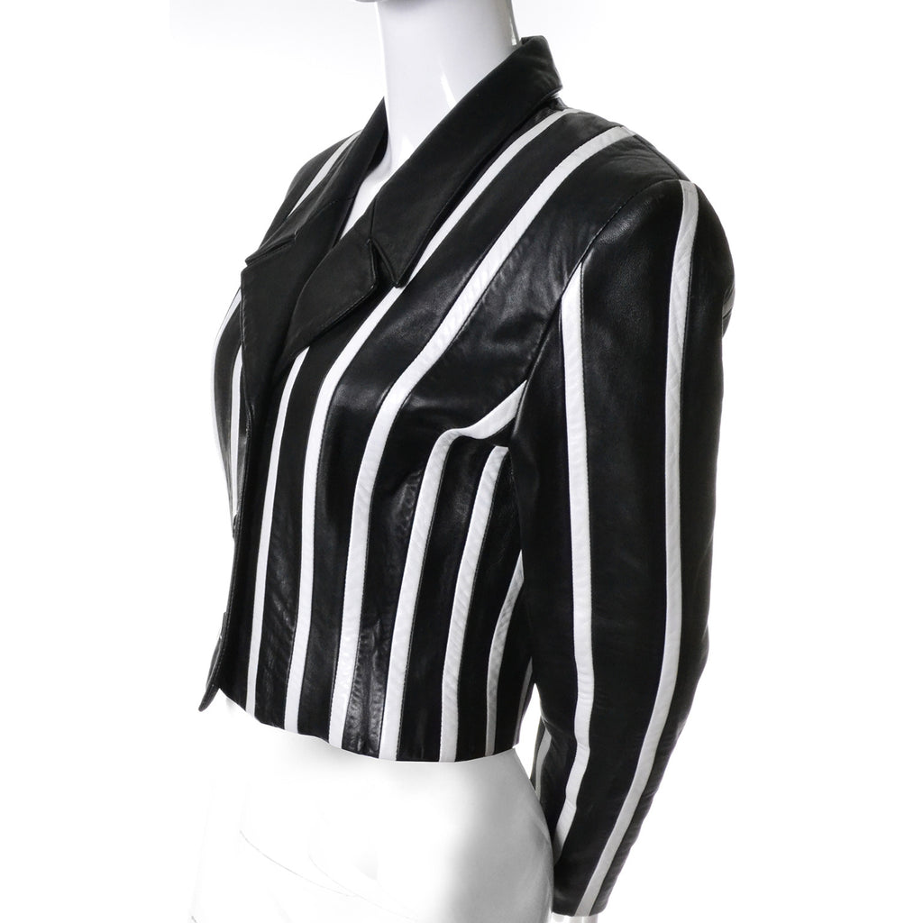 Michael Hoban North Beach Vintage Leather Jacket Stripes