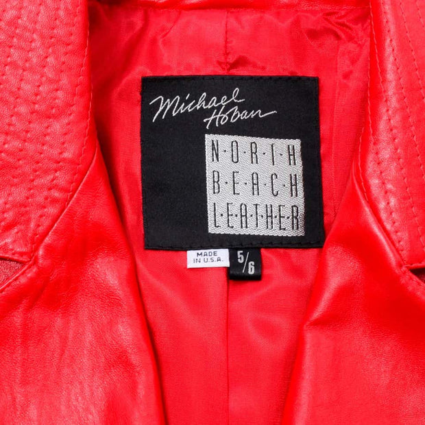 Michael Hoban North Beach Leather Vintage Bomber Jacket