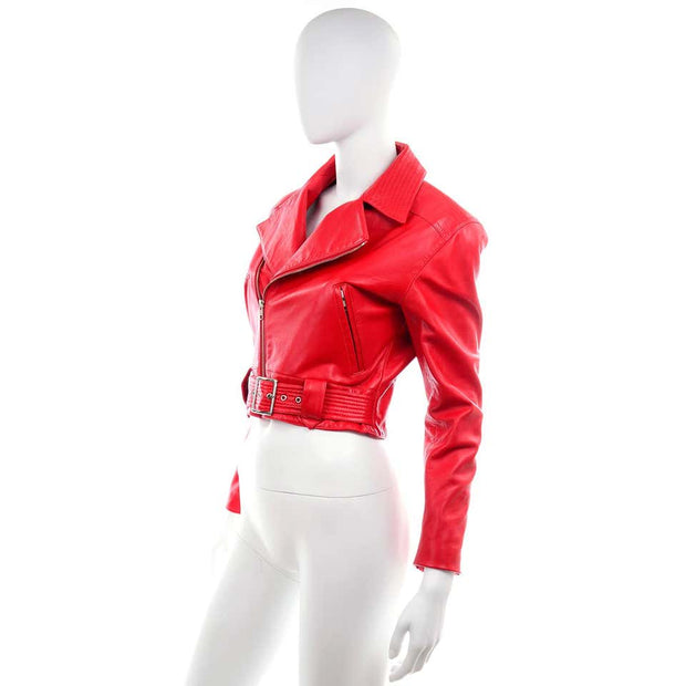 Red Racer Michael Hoban North Beach Leather Vintage Bomber Jacket