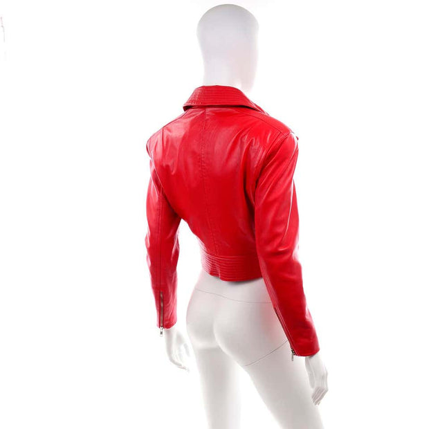 Michael Hoban North Beach Leather Vintage Bomber Red Jacket