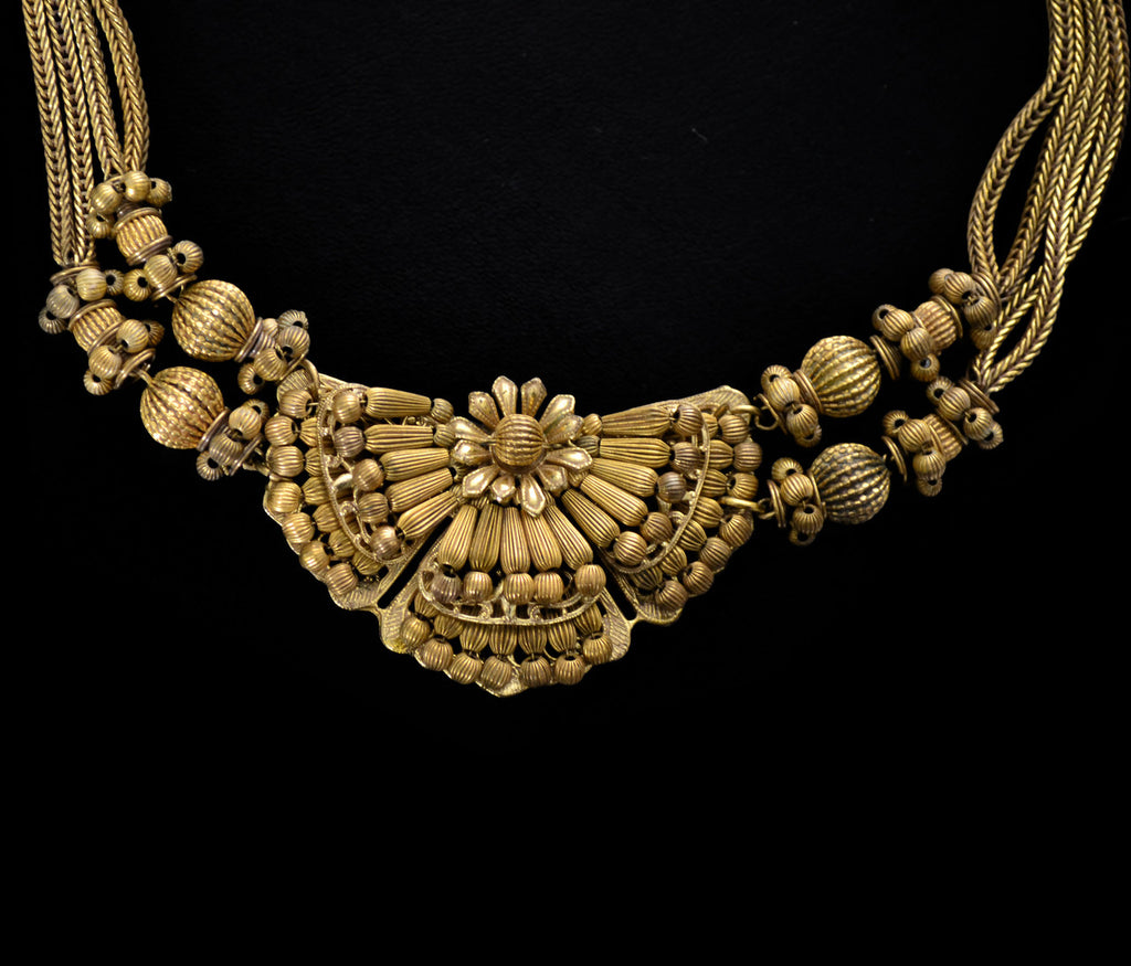 1950s vintage Miriam Haskell gold necklace