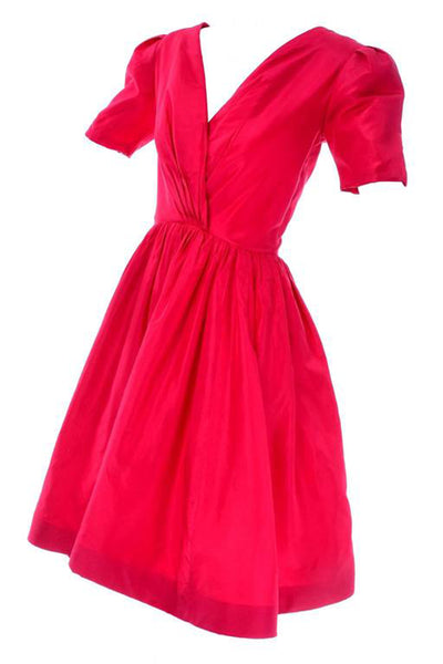 Oscar de la Renta red silk dress