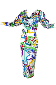 Abstract colorful silk jersey Missoni dress