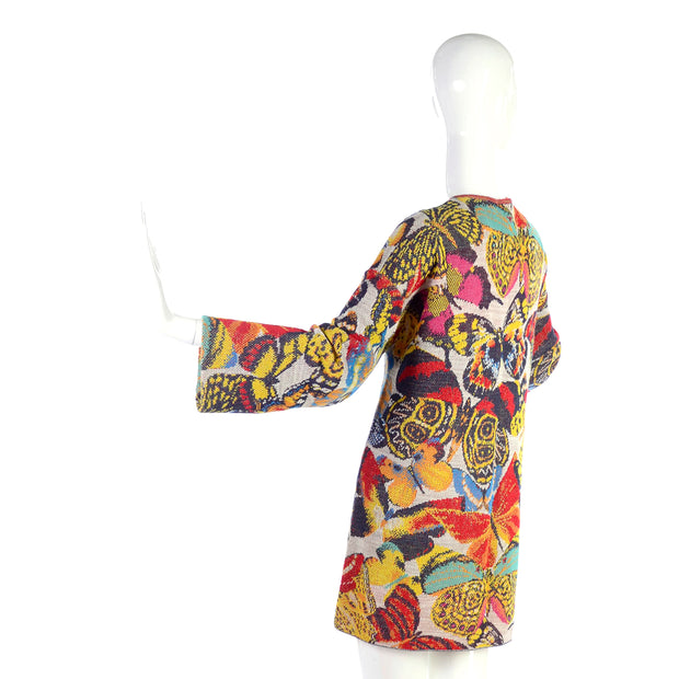 Vintage Missoni Butterfly Sweater or Mini Dress in a Linen Cotton Blend