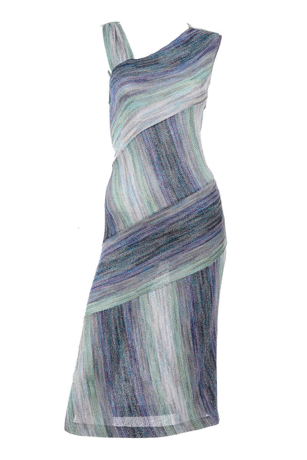 Missoni metallic stretch knit water dress
