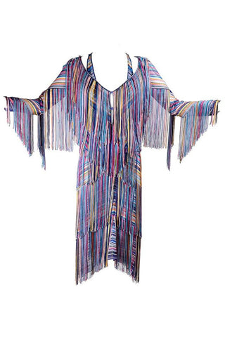 1990's Rainbow Fringe Jacket and Matching Dress
