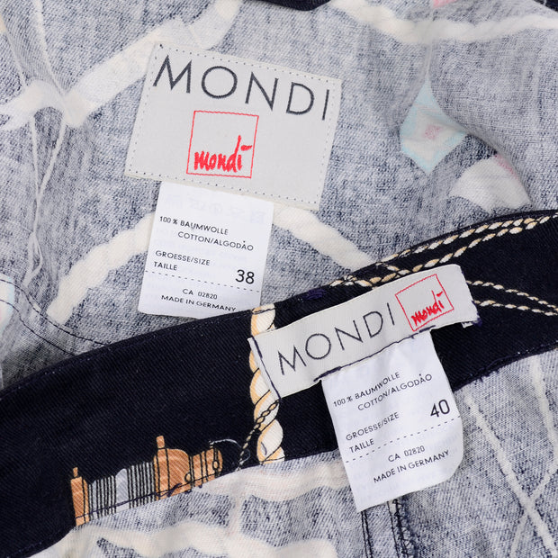 Vintage early 1990's Mondi label