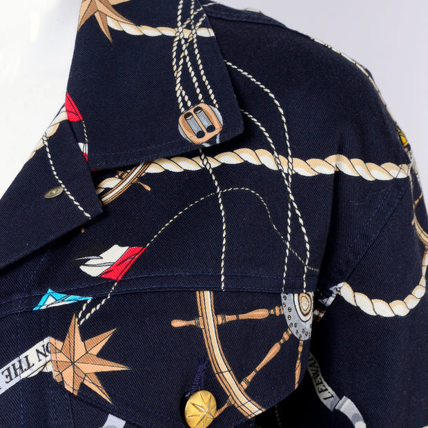 Vintage ship novelty naval outfit with nautical imagery
