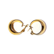 Monet Vintage Gold Tone Pierced Hoop Earrings