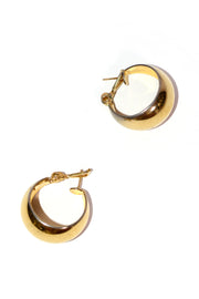 Monet Vintage pierced Gold tone hoop earrings