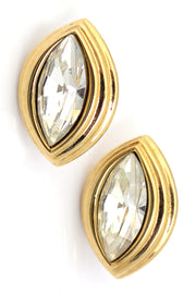 Monet Crystal Vintage Earrings