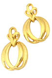 Monet Vintage Gold earrings