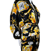 2016 Moschino Couture Dress in Spilled Perfume Print
