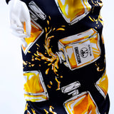 Moschino Couture Dress in Spilled Perfume Bottle Print