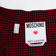 1990s Moschino Nautical Print Mini Skirt w/ Fans & Vines