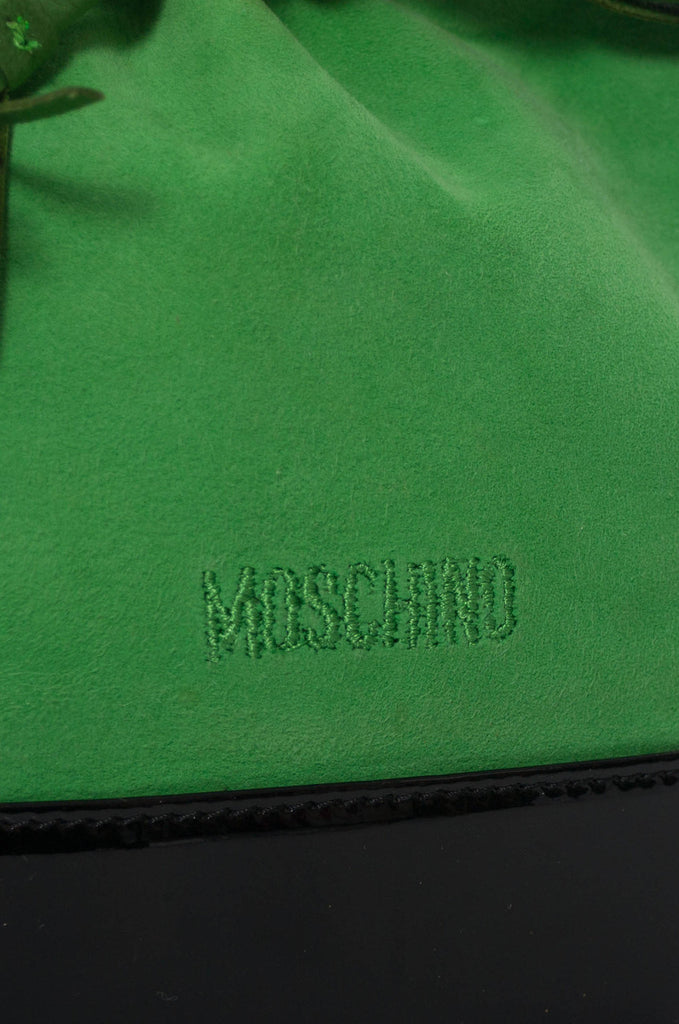 Vintage Moschino bag green suede drawstring handbag SOLD