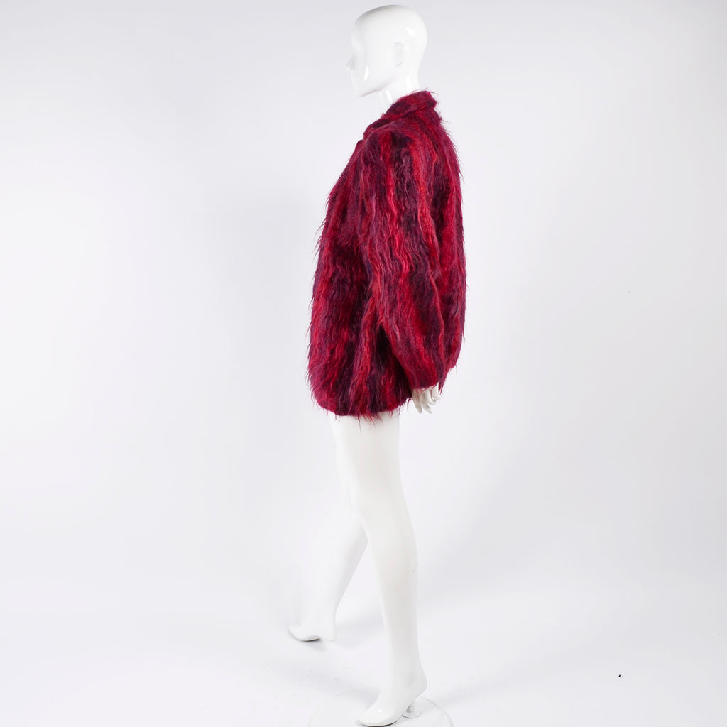 Vintage Red Mohair Hand Woven Jacket Oregon