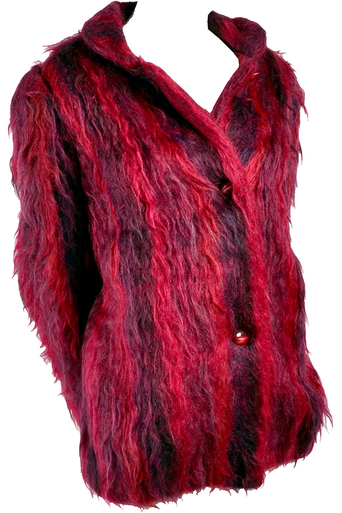 Handwoven mohair vintage jacket