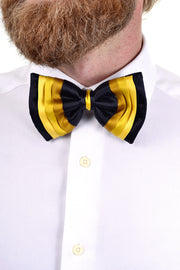 Napoleon vintage black and yellow gold pre tied bow tie