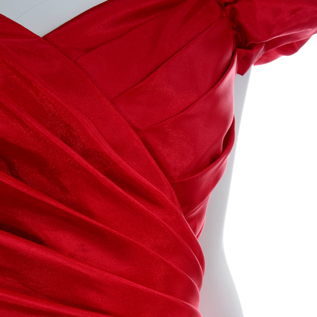 80s Neiman Marcus Vintage Red Party Holiday Dress