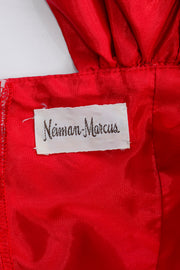 1980s Neiman Marcus Evening Vintage Red Dress