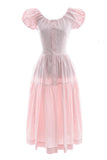 1960s Nelly Don pink cotton vintage dress