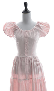 Nelly Don vintage 1960s pink perfection dress with white trim - Dressing Vintage
