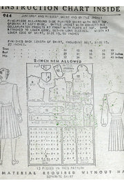 New York 944 vintage sewing pattern 1940s Jacket & Skirt
