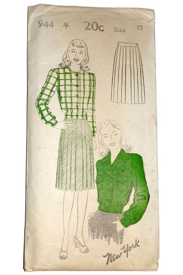 1940s New York 944 vintage sewing pattern