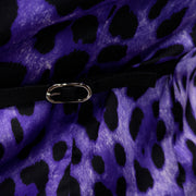 Deadstock Dolce & Gabbana Black Vest With Purple Leopard Print