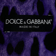 Dolce & Gabbana New With Original Tags Black Tuxedo Vest w Purple Leopard Back Made in Italy