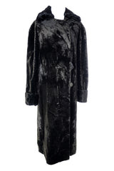 Edwardian Faux Sealskin Coat